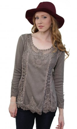 Cholera Vintage Victorian Lace Up Blouse In Ecru My Pretty Angel