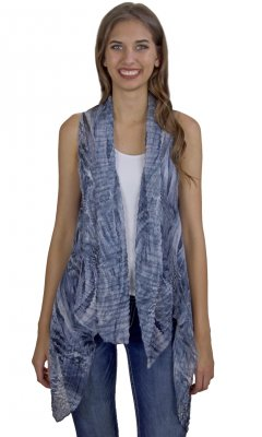 Ada Ladies Silk Blend Crinkle Vest Grays My Pretty Angel Vest