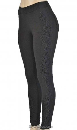 Lucy Lacey Pant Legging In Black