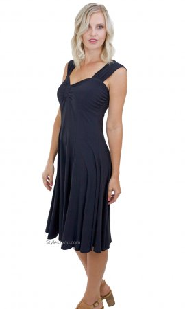 Victoria Ladies All Occasion Dress Black Pretty Woman Clothing