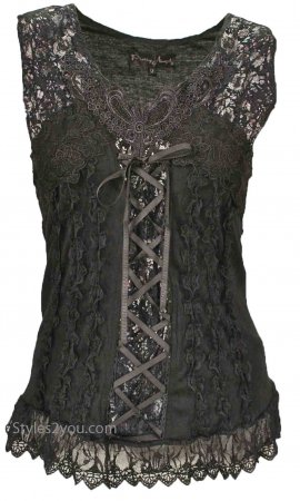 Mercer Women's Vintage Victorian Corset Top In Black