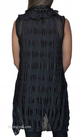 Felicity Ladies Vintage Victorian Two Piece Top Vest Black Tops