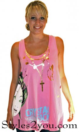 Loose Fitting Tank In Pink