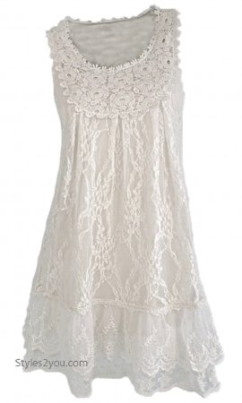 Anita Vintage Victorian Antique Lace Tunic In White