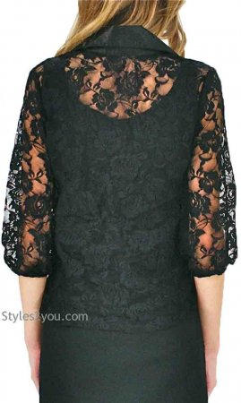 Alder All Lace Vintage Blouse In Black, Pretty Angel Clothing