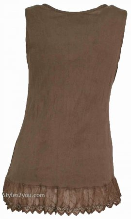 Mercer Women's Vintage Victorian Corset Top In Brown