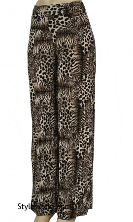 Paige Palazzo Pant In Brown Animal Print