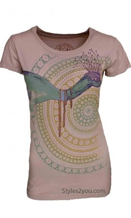Fancy Peacock Thistle T-Shirt