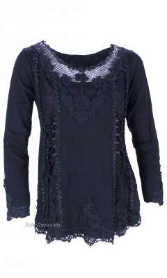 Cholera Vintage Victorian Lace Up Blouse Black My Pretty Angel