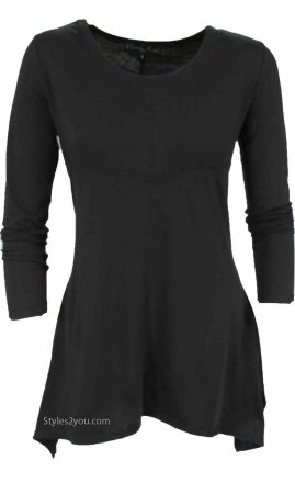 Betsy Ladies Bohemian Shirt Dress In Black, Pretty Angel