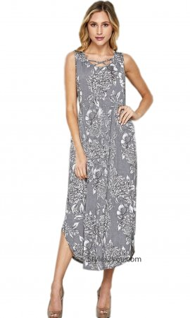 York Honeyme Plus Size Bulgari Maxi Dress In Gray