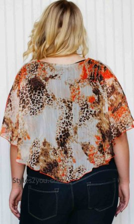 Bianca PLUS SIZE Blouse in Rust