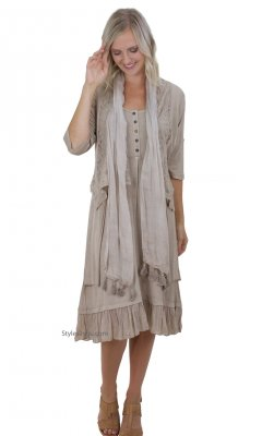 Shelley Corset Dress, Vest & Scarf Brown, Sacred Threads Dresses