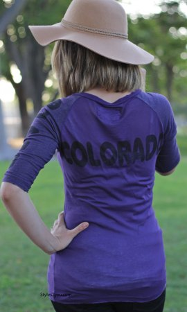 Colorado Ladies Tee In Purple