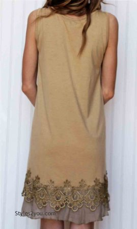 Kyle Ladies Tunic Dress In Brown Pretty Angel Dresses
