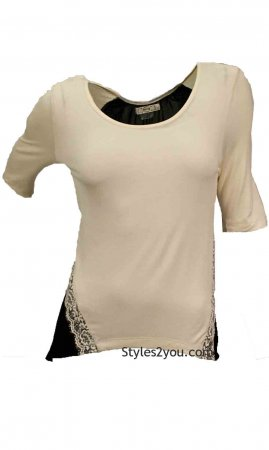 River Blouse In Black And Cream