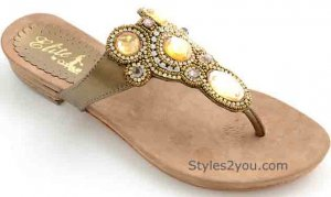 Lipari Sandal In Bronze