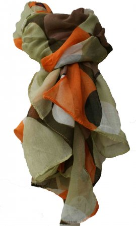 Ladies Classic Scarf In Earth Tones