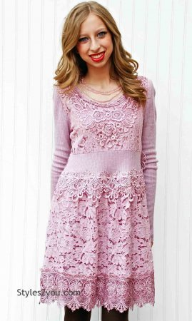 Joella Dress-Tunic In Mauve