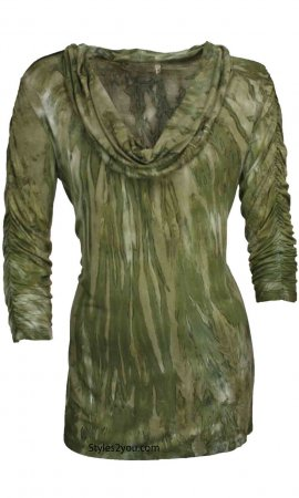 Amelia Blouse In Olive Impulse California Tunic