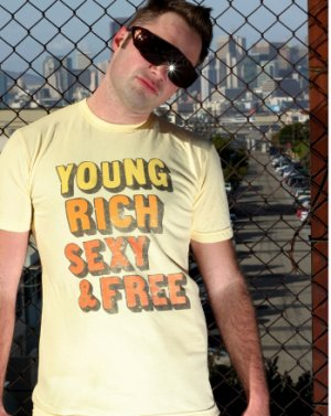 Young Rich Sexy & Free Tee Shirt For Men