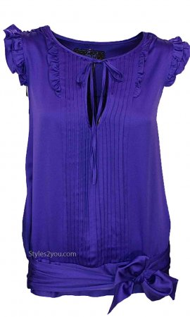 Estelle Blouse In Purple