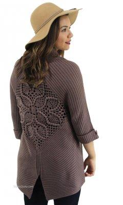 c9f31ac4a6c2a9 ... Cardigan Teal Shana K Top. $39.00. Raelyn Ladies Bohemian Sweater  Vintage Knit Sweater In Brown