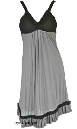 Stormy Dress In Gray And Black