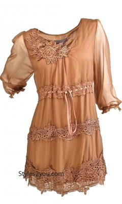 Starla Vintage Blouse In Brown