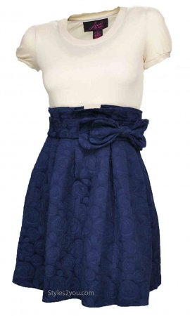 Annabelle Peacoat Dress In Navy Blue