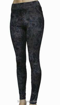 Gladis Leggings In Gray And Blue