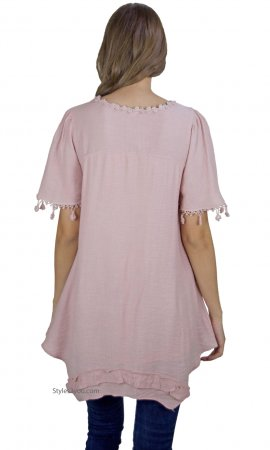 Aliza Vintage Victorian Shirt Dress In Mauve My Pretty Angel Top