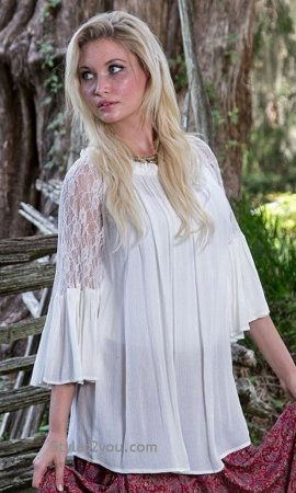 Lillian 3/4 Lace Sleeve Shirt Dress In Off White Sacred Threads