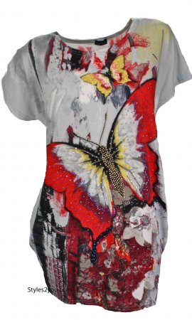 Mariposa Ladies Vintage Reproduction Top Red My Pretty Angel Top