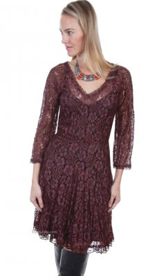 Kingsley Red Velvet Two Piece All Floral Lace Dress Coco Scully