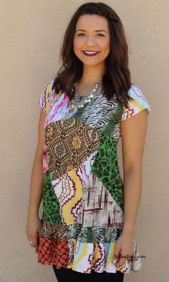 Revolution Tunic In Multi Colors Sacred Threads Clothing Blouse