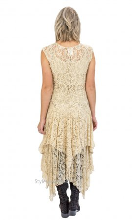 Abigail Layered All Lace Dress With Slip In Stone Verducci Dress