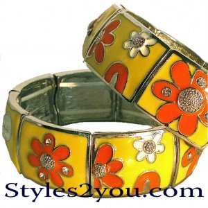 Yellow Flower Stretch Bracelet