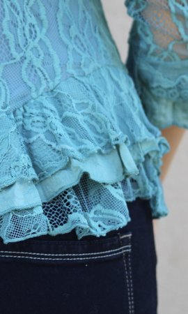 Jocelyn Steampunk Vintage Victorian Corset Blouse In Turquoise
