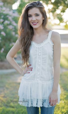 Chic Tank Tunic In White
