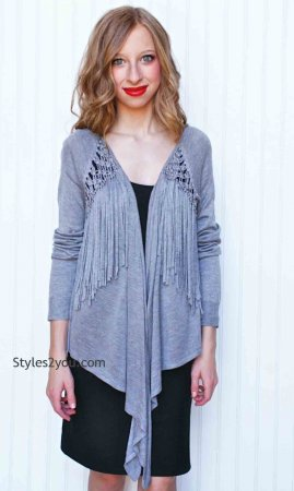 Morning Apple Clothing Imogen Cardigan In Heather Gray