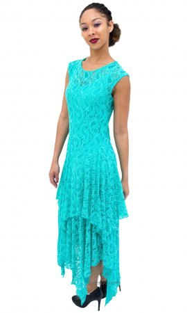 Abigail Layered All Lace Dress With Slip In Topaz Verducci Dress
