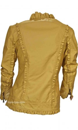 Sadie Ruffle Jacket In Yellow