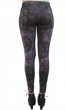 Edith Legging In Burgundy And Black