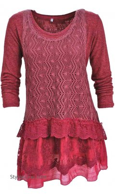 Ameline Two Piece Vintage Victorian Tunic & Vest In Burgundy