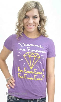 Diamonds Are Forever Ladies Tee Shirt