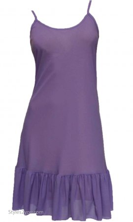 Slip With Ruffle Shirt Extender Dress Extender In Purple