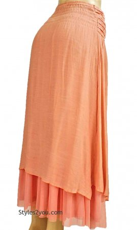 Antique Belted Skirt In Caramel, Pretty Angel