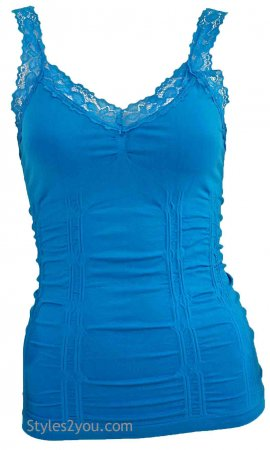 Styles2you Clothing Corset & Lace Undershirt In Teal