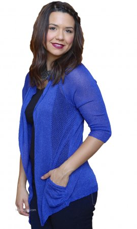 Barb Open Cardigan In Blue  JOH Clothing Apparel Cardigan